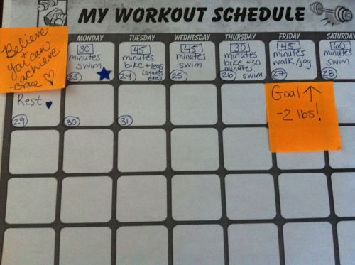 Workout Plan for the Week.
