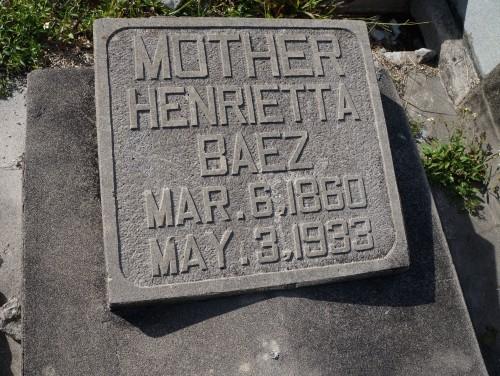 Henrietta Baez 1860-1933