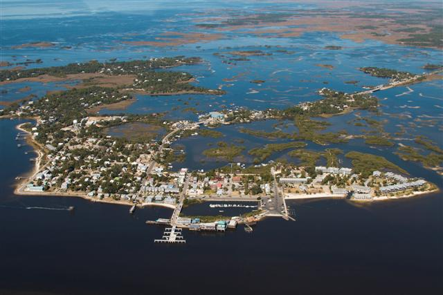 Cedar Key from a Birds Eye View - Photo by Pat Bonish